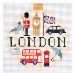 click here to view larger image of Travel Round - London (hand painted canvases)