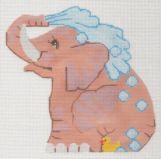 click here to view larger image of Bathing Elephant (hand painted canvases)