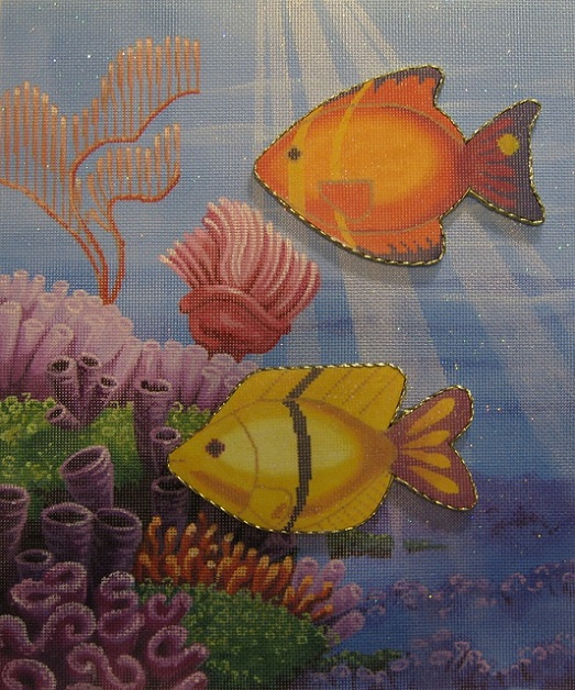 click here to view larger image of Aquarium (to display fish) (hand painted canvases)