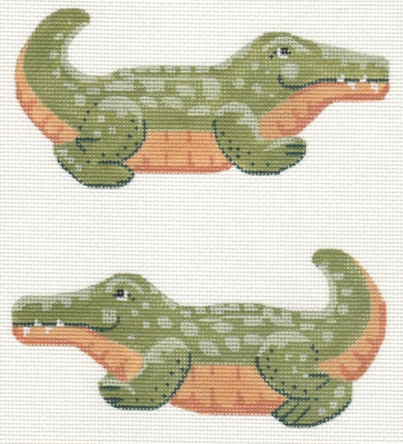 click here to view larger image of Clip-on Alligator (hand painted canvases)
