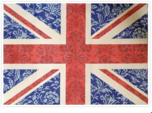 click here to view larger image of Floral Flag - Union Jack (hand painted canvases)