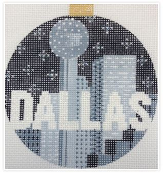 click here to view larger image of City Bauble - Dallas (hand painted canvases)