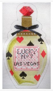 click here to view larger image of Perfume Bottle Lucky No 7 (hand painted canvases)