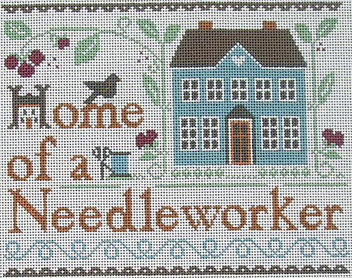 click here to view larger image of Home Of A Needleworker (hand painted canvases)
