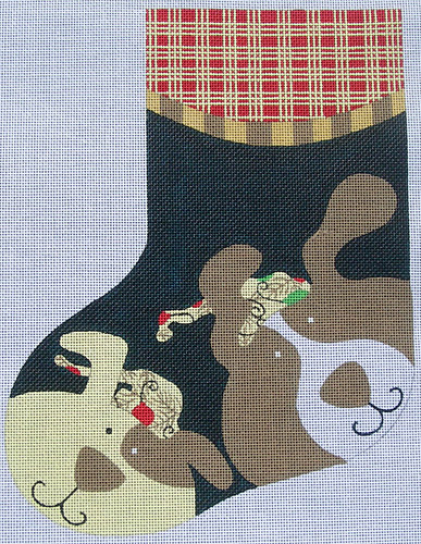 click here to view larger image of Dog Stocking (hand painted canvases)