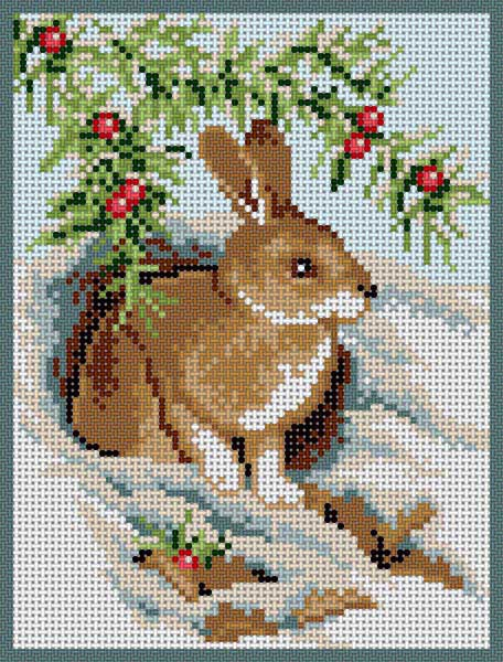 click here to view larger image of Bunny In The Snow (hand painted canvases)