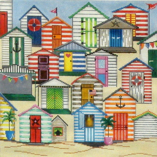 click here to view larger image of Cabanas (hand painted canvases)
