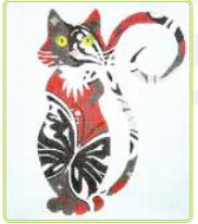 click here to view larger image of Butterfly Cat (hand painted canvases)