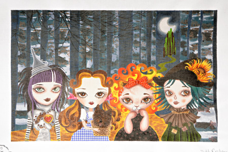 click here to view larger image of Oz Girls (hand painted canvases)