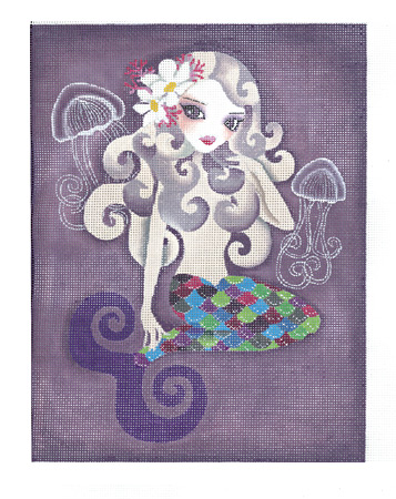 click here to view larger image of Amethyste Mermaid (hand painted canvases)