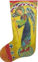 click here to view larger image of Guardian Angel Stocking (hand painted canvases)