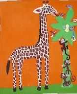 click here to view larger image of Monkeys and Giraffes (hand painted canvases)