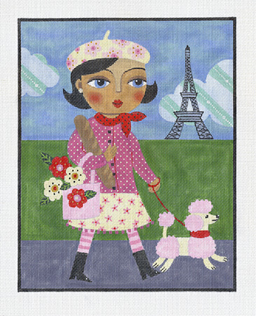 click here to view larger image of Paris Girl (hand painted canvases)