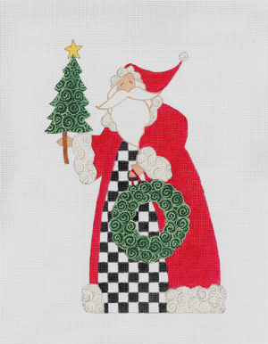 click here to view larger image of Checkered Santa, The (hand painted canvases)