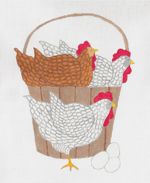 click here to view larger image of Bucket of Chicken (hand painted canvases)