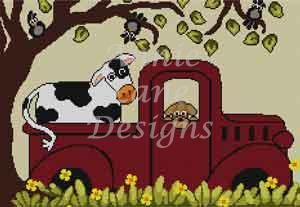 click here to view larger image of Road Trip - Red Truck (hand painted canvases)