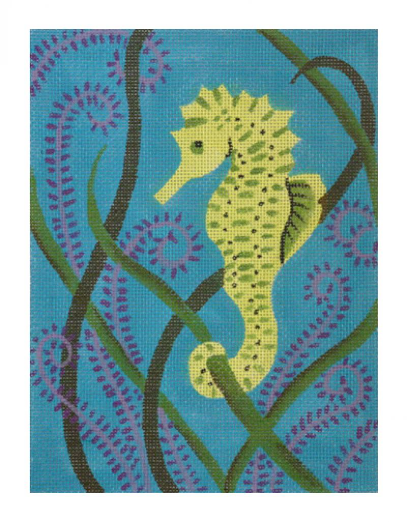 click here to view larger image of Citron Seahorse (hand painted canvases)