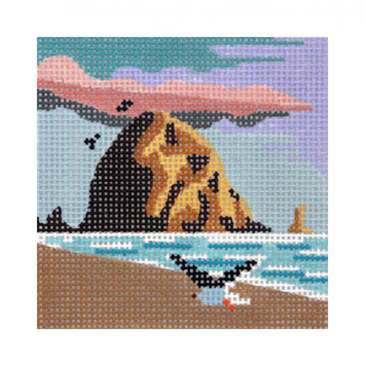 click here to view larger image of Haystack Rock - Small (hand painted canvases)