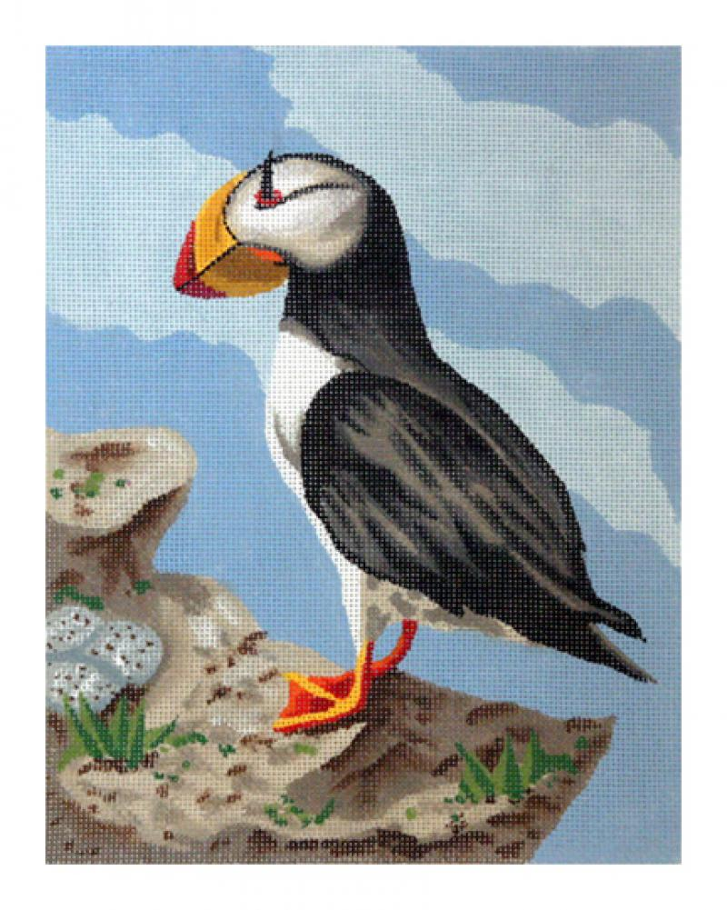 click here to view larger image of Horned Puffin (hand painted canvases)