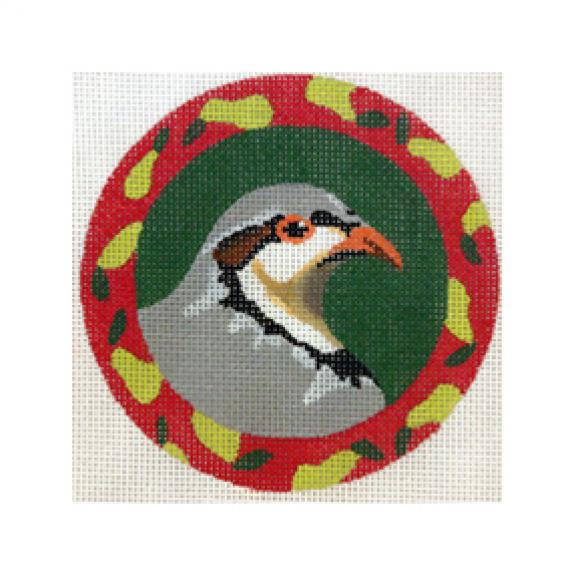 click here to view larger image of Christmas Partridge (hand painted canvases)