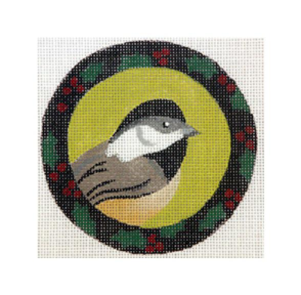 click here to view larger image of Christmas Chickadee (hand painted canvases)