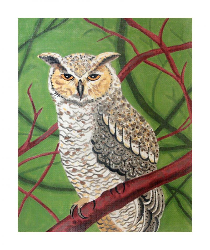click here to view larger image of Great Horned Owl (hand painted canvases)