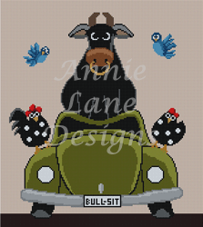 click here to view larger image of Bull Sit (hand painted canvases)