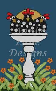 click here to view larger image of Bird Bath (hand painted canvases)