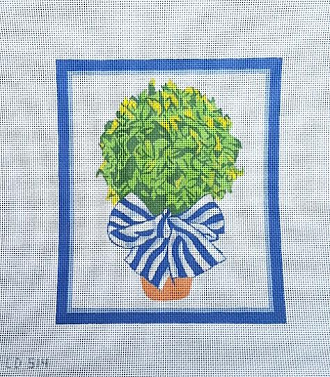 click here to view larger image of Topiary (hand painted canvases)
