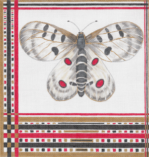 click here to view larger image of Apollo Moth (hand painted canvases)
