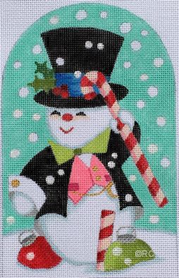 click here to view larger image of Snowman Standup (hand painted canvases)