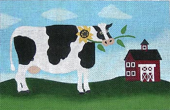 click here to view larger image of Sunflower Cow (hand painted canvases)