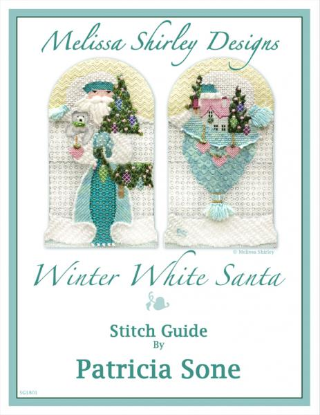 click here to view larger image of Winter White Santa - Stitch Guide (books)