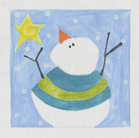 click here to view larger image of Blue Snowman (hand painted canvases)