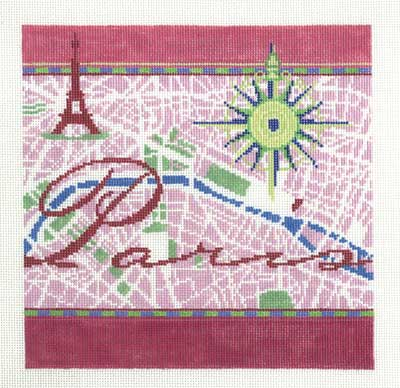 click here to view larger image of Paris - 13ct (hand painted canvases)