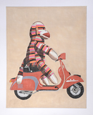 click here to view larger image of Sock Monkey Scooter (hand painted canvases)