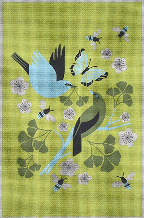 click here to view larger image of Ginko Gift Chartreuse (hand painted canvases)