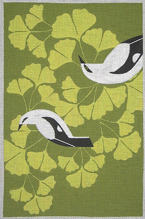 click here to view larger image of Ginko Play (hand painted canvases)