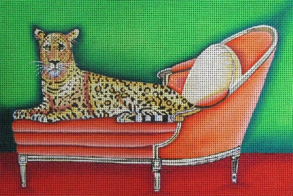 click here to view larger image of Big Cat On Pink Couch (hand painted canvases)