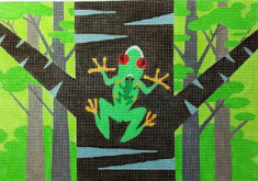 click here to view larger image of Frog and Baby (hand painted canvases)