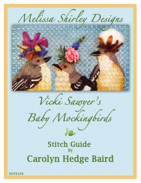 click here to view larger image of Baby Mockingbirds - Stitch Guide - Baird (books)