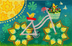 click here to view larger image of Full Bicycle (hand painted canvases)
