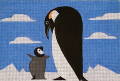 click here to view larger image of Penguin and Baby (hand painted canvases)