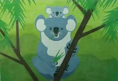 click here to view larger image of Koala and Baby (hand painted canvases)