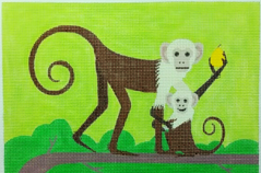 click here to view larger image of Monkey and Baby (hand painted canvases)