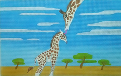 click here to view larger image of Giraffe and Baby (hand painted canvases)