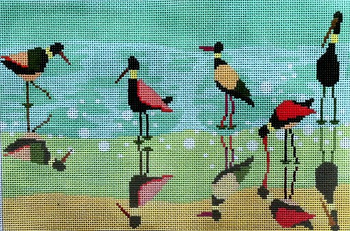 click here to view larger image of Shorebirds (hand painted canvases)
