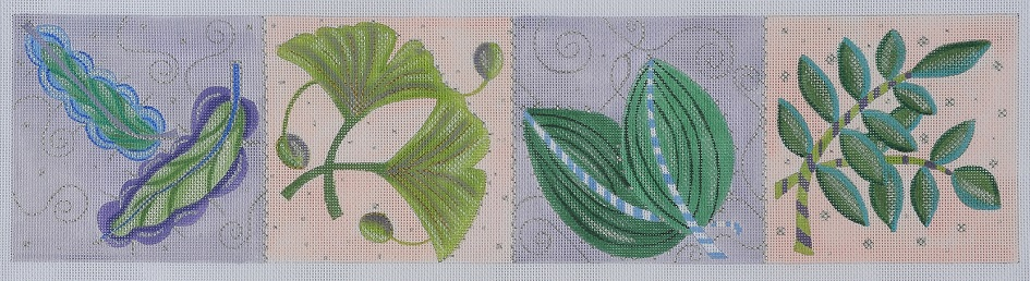 click here to view larger image of Leaves by Bonnie - Stitch Guide (books)