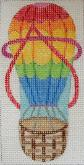 click here to view larger image of Hot Air Balloon Flipflop Eyeglass Case (hand painted canvases)