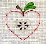 click here to view larger image of Apple - Hearts Of The Month (hand painted canvases)